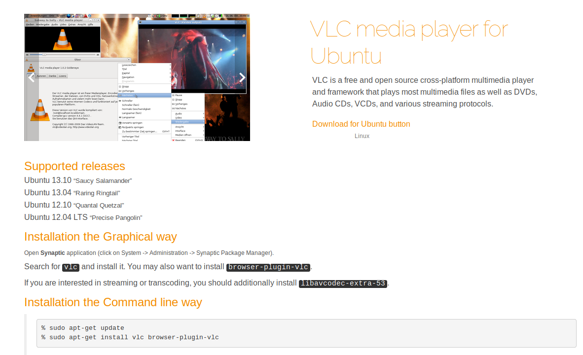 Что установить в Ubuntu? VLC Media Player